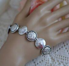 Vintage Jewellery Bracelet Sterling Silver Antique Dress Jewelry 20Cm Long