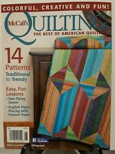 McCalls Quilting Trendy Traditional Pattern Lesson May Jun 2016 FREE SHIPPING JB