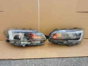 2015 - 2019 Subaru WRX STI OEM Set PAIR of Right & Left Halogen Headlights RED