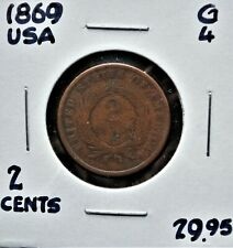 1869 United States 2 Cents G-4