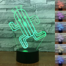 3D LED Night Light Cactus Touch Swift Desk Bed Table Lamp 7 Color RGB Kids Gift
