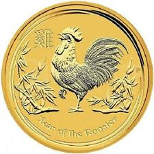 AUSTRALIE 5 Dollar Or 1/20 Once Année du Coq 2017 - 1/20 Oz Gold Rooster