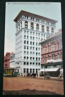 Oakland California Union Savings Bank Building  antique postcard