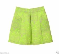 Above Knee Pleated Regular Size Floral Skirts for Women