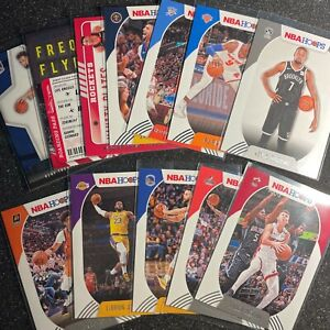 LOT X 12 20-21 NBA Hoops LEBRON JAMES DURANT CURRY HERRO BARRETT