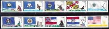 New listing Us Scott #4293-4302 44c Flags Of Our Nation 3 - 1 Strip Pn10 Mnhvf Coil Stamps