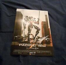 Pacific Rim (2013) 11x17 poster Charlie Hunnam, Idris Elba, Guillermo del Toro