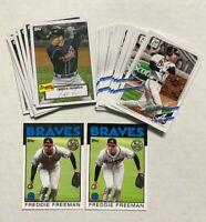 (23) 2021 Topps  Series 1 FREDDIE FREEMAN Cards Lot! Atlanta Braves