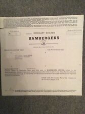 Bambergers Ltd Dated 1973 25 Shares Invalid Share Certificate