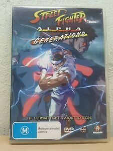 Street Fighter MOVIE Alpha - Generations (DVD, 2006) RARE ANIME - REGION 4 AUST