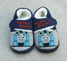 NEXT Thomas The Tank Engine Light Up Slippers Hook & Loop Non Slip Size 4