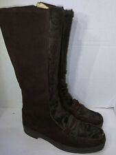 Snowland Brown Tall Boots Winter Lined Size Zipper  Womens Size 9