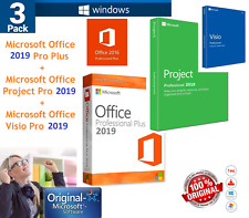 Microsoft Office 2019 Key License 3 PACK Office + Project + Visio Pro Genuine