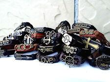 wholesale 50pcs men's women's retro copper alloy leather Tribal cuff bracelets