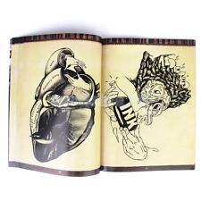 Popular Tattoo Flash Sketch Book Skull Bird Flower Insect Figure Art Design