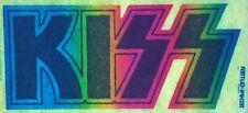 Original Vintage 1977 Kiss Logo Iron On Transfer Rainbow Glitter