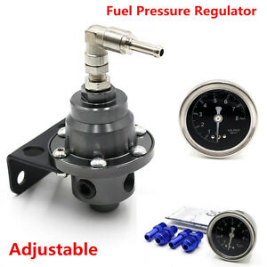 Sport Type Car Fuel Pressure Regulator Adjustable Oil Liquid Filled Gauge Meter