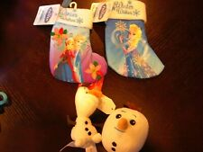 Lot 2 Disney Frozen Elsa Anna Mini Stocking Christmas 8 inches & ORNAMENTS