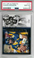 PSA Gem Mint 10 Green Bay Packers Aaron Rodgers 2011 Cal SP Future Watch #171