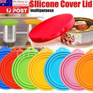 1/2/3pc Pet Food Can Cover Lid Dog Cat Pet Tin Silicone Reusable Storage Cap Top