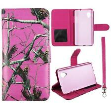 Flip Wallet Camo Pink Pine Rt For LG Optimus G LS970  Leather Cover Case