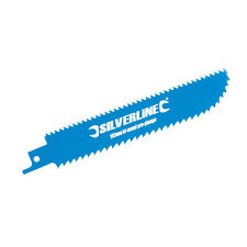 Silverline 633930 Double-Sided Recip Saw Blade for Wood 3pk HCS 6tpi/BiM 9tpi