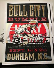 Screen Printed Vintage Motorcycle Poster Cafe Racer Honda Yamaha Suzuki Ton Up