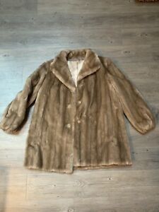 1960s Vintage Fur Coat Tissavel of France Mink Stroller Faux Fur Jacket Sycamore Fur Coat Vintage Vegan Fur Fake Mink Coat Union Made ILGWU