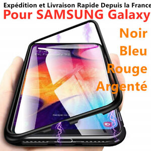 COQUE PROTECTION MAGNÉTIQUE ARRIERE VERRE TREMPÉ SAMSUNG S9/S10/PLUS/S8/NOTE 8 9