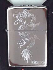 Zippo Engraved Dragon Design High Polished Chrome 250-38898