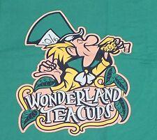 Disneystore.com DLR Wonderland Tea Cups T-Shirt Tee Shirt L Mad Hatter Alice