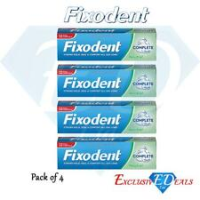 4 x Fixodent Cream Complete Strong Hold Adhesive Denture Cream Neutral 47g