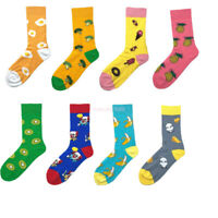 New Arrival 2019 Men Women Happy Socks Fruit Print Cotton Long Crew Socks Hot