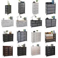 Chest of Fabric Drawer Dresser 3/4/5/6/7/8/9 Bins Organizer Storage Furniture