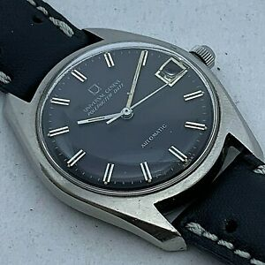 VINTAGE UNIVERSAL GENEVE POLEROUTER DATE MENS DRESS WATCH MICROROTOR AUTOMATIC