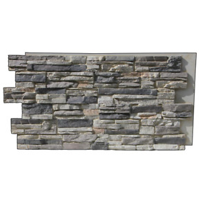 Lightning Ridge 48 in. x 24 in.  Class A Fire Rated Faux Stone Siding Panel Fini