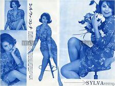 SYLVA KOSCINA Leggy 1963 Vintage Japan Picture Clippings 2-SHEETS kd/r