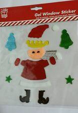 Adesivo Finestra Gel di Natale Signora Claus Babbo Natale BELLA Stelle Natale