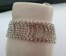 Diamante swag layered bracelet. Bnwot. Party, glam, sparkle.