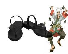Naruto Jiraiya Young Cosplay Kostüme Costume Schuhe Shoes NINJA Schwarz Neu New