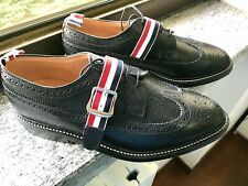 NEW💥THOM BROWNE💥LONGWING US 11 UK 10💥Made in UK Black leather Mens shoes