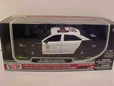 LAPD 2013 Ford Taurus Police Interceptor Die-cast Car 1:24 Motormax 8 inch B/W