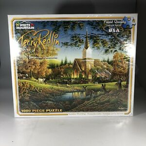 Sunday Morning Puzzle Artist Terry Redlin 1000 Piece USA Made White Mountain