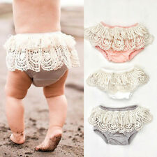 Toddler Baby Girl Lace Floral Shorts Ruffle Pants Bloomers Diaper Nappy