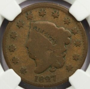 1827 Coronet head Large Cent NGC AG3
