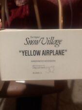 "Dept 56 The Original Snow Village ""Yellow Airplane"" Accessory #56.54585"