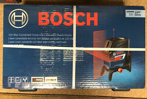 BOSCH GCL100-80C 12V MAX CONNECTED CROSS-LINE LASER W/ PLUMB POINTS - NEW!