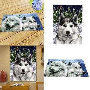 2 Sets Knüpfteppich DIY   Knüpfpackung zum Selber Knüpfen Teppich