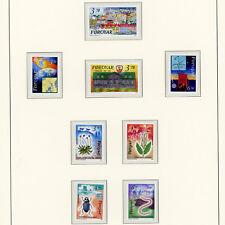 FAROE ISLANDS 1991 3 Commemorative Issues. 8 Values. Mint Never Hinged. (AY375)
