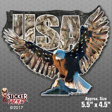 "USA Eagle ""CAMO"" Sticker - Vinyl Car Truck Bumper Decal Hunting America #FS2038"